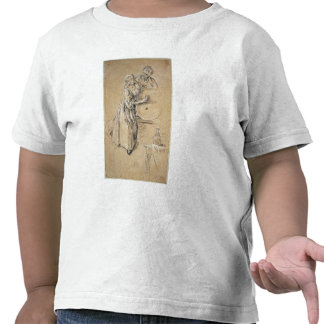 Wine-pourer with a Young Man chalk card Tshirt
