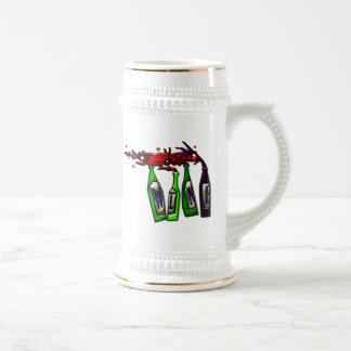 Wine Pouring from Bottles Beer Steins
