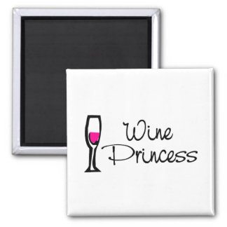 Wine Princess Square Magnet