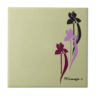 Wine, Purple, and Black Iris Tile