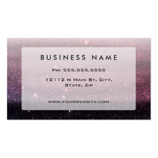 Wine Purple and Navy Blue Faux Glitter Gradient Pack Of Standard Business Cards