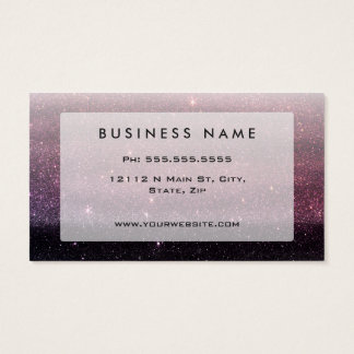 Wine Purple and Navy Blue Faux Glitter Gradient Business Card