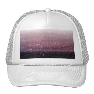 Wine Purple and Navy Blue Faux Glitter Gradient Cap