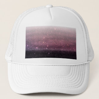 Wine Purple and Navy Blue Faux Glitter Gradient Trucker Hat