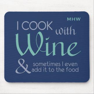 Wine Quote custom monogram mousepad