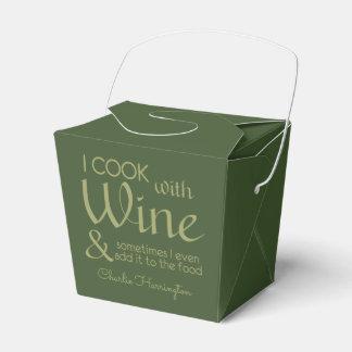 Wine Quote custom name favor box