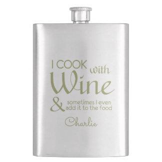 Wine Quote custom name flask