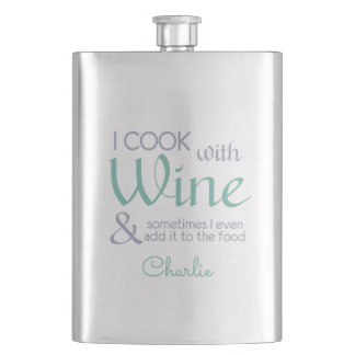 Wine Quote custom name flask