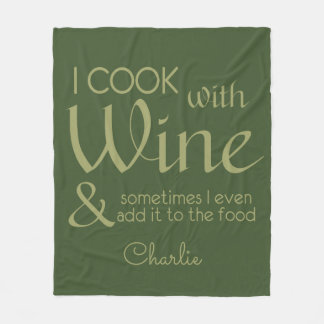 Wine Quote custom name fleece blankets