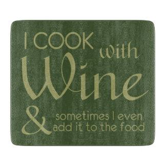 Wine Quote cutting board