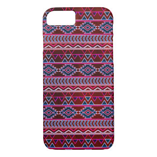 Wine Red Aztec Tribal Pattern iPhone 8/7 Case