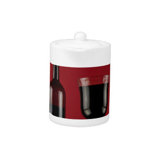 Wine red glass bottle