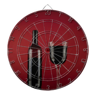 Wine red glass bottle dartboard