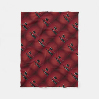Wine red glass bottle fleece blanket
