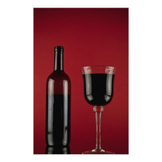 Wine red glass bottle stationery