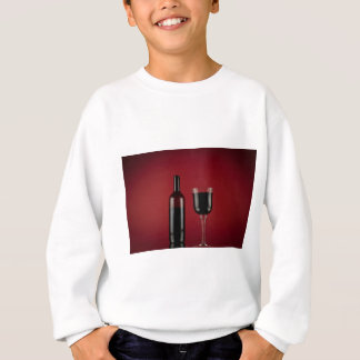 Wine red glass bottle sweatshirt