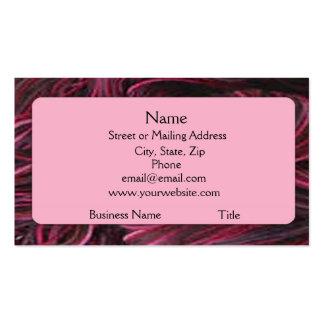 Wine Red Yarn Business Card