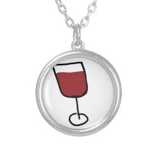 Wine Round Pendant Necklace