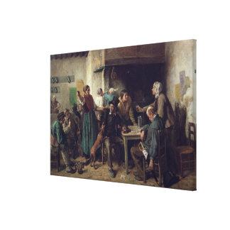 Wine Shop Monday, 1858 Canvas Print