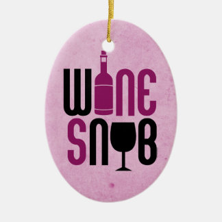 Wine Snob Christmas Ornament