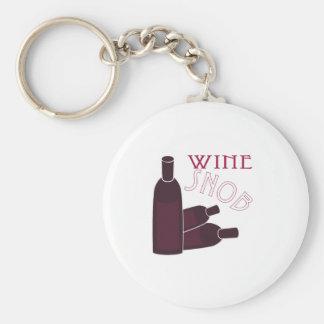 Wine Snob Basic Round Button Keychain