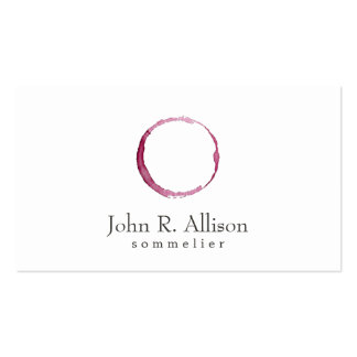 Wine Stain Logo Sommelier Simple Business Card
