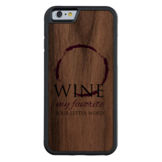 Wine Stain Ring Wood iPhone 6 Carved Walnut iPhone 6 Bumper Case