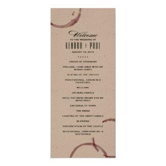 Wine Stains Winery Vineyard Ceremony Program