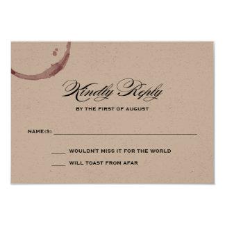 Wine Stains Winery Vineyard Wedding Response Card