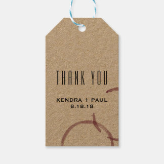 Wine Stains Winery Vineyard Wedding Thank You Tag