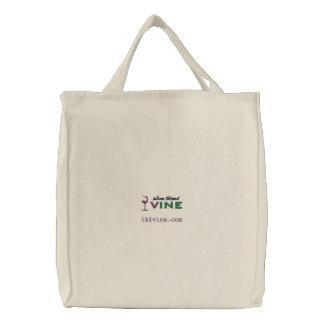 Wine Stand VINE original logographic embroidery en Embroidered Bag