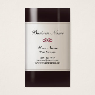 Wine Steward  Business Card