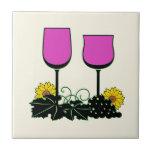 Wine & Sunflowers Ceramic Tile