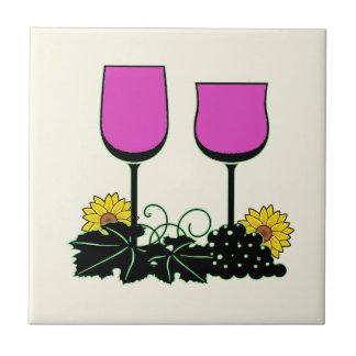Wine & Sunflowers Tile