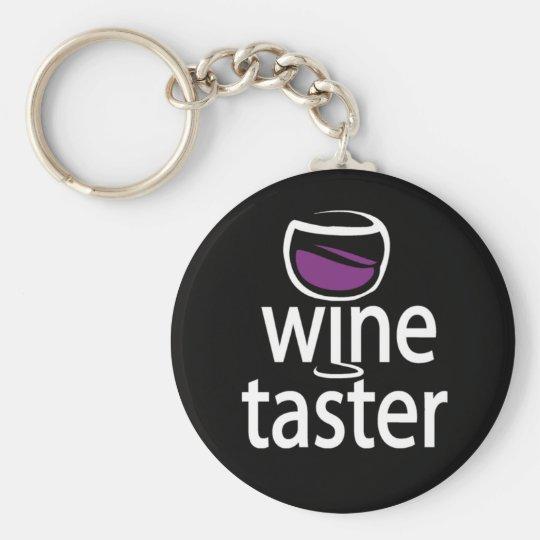 Wine Taster Basic Round Button Key Ring