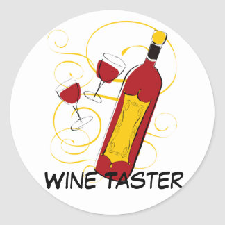 Wine Taster Round Sticker