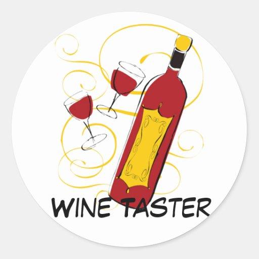 Wine Taster Round Sticker