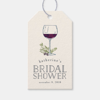 Wine Tasting Bridal Shower Favor Tags