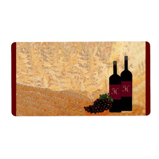 Wine Tasting Name Tag Shipping Label