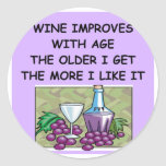 wine tasting round sticker