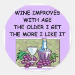 wine tasting round stickers