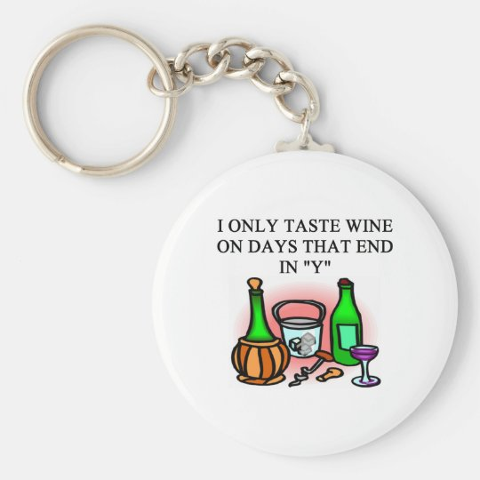 WINE tasting taster design Key Ring