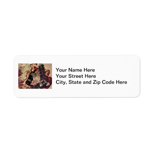 Wine Theme Address Labels