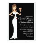 Wine Theme Bridal Shower Celebration Invitation