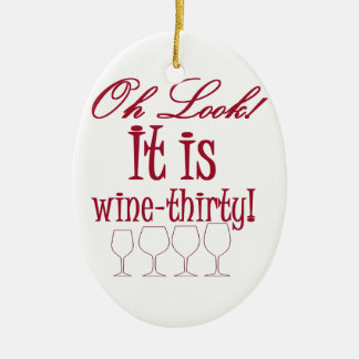 wine-thirty christmas ornament