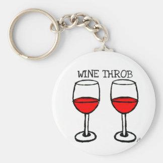 """WINE THROB"" FUN RED WINE PRINT KEY CHAIN"