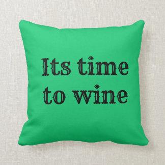 wine time cushion