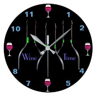 Wine Time Kitchen Clock