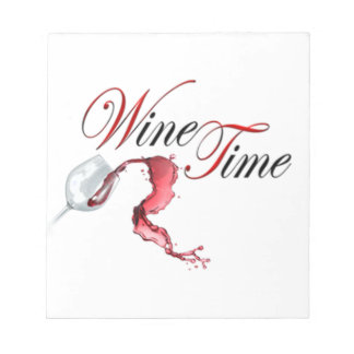 wine time notepad