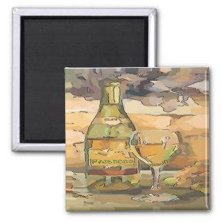 Wine Time, Prosecco Square Magnet